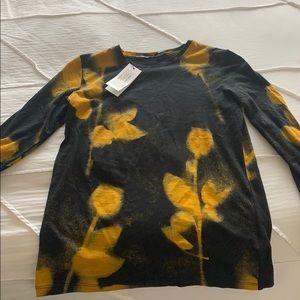 Proenza Schouler yellow and black long tee XS